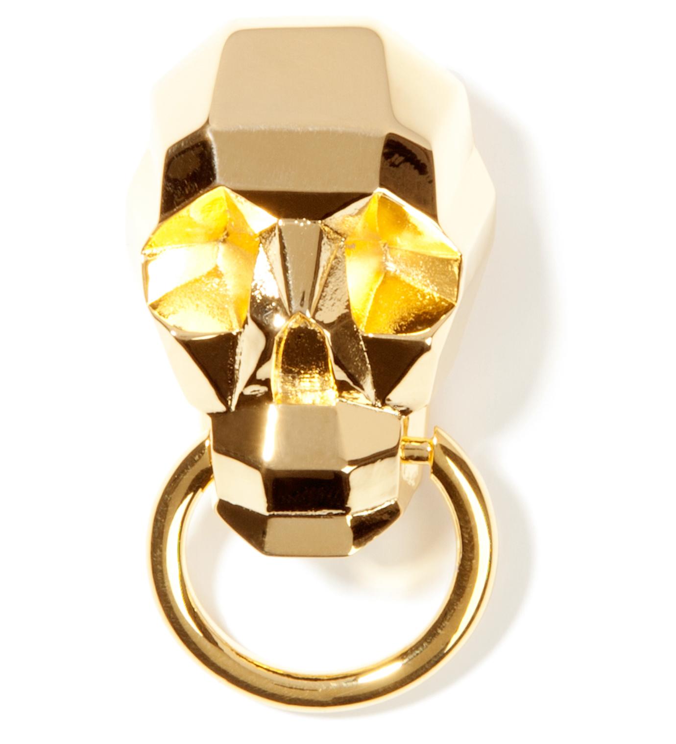 AMBUSH Gold Skull Pin
