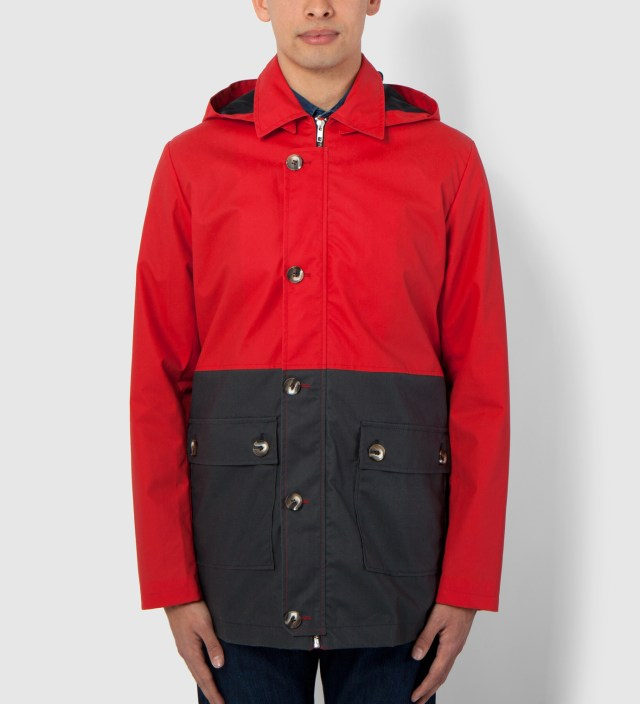 Hentsch Man Navy/Red Mondrian Block Jacket