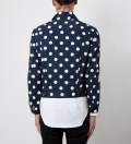 Mark McNairy Navy With White Dot Jean Jacket