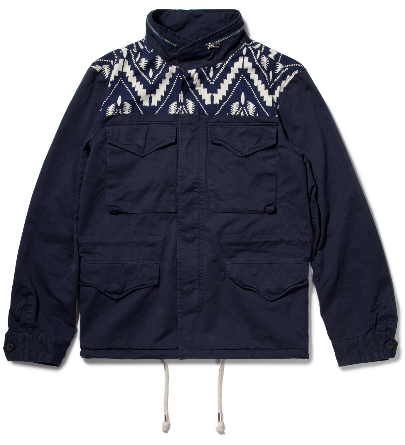 Shades of Grey by Micah Cohen Navy Twill M65 Jacket