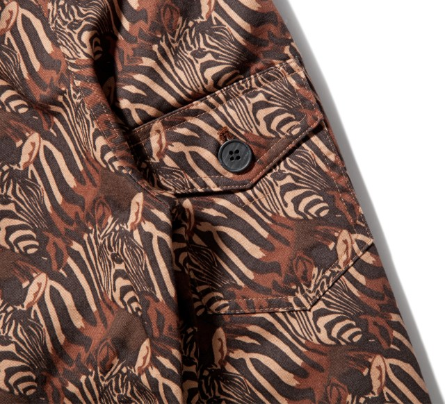Shades of Grey by Micah Cohen Zebra Heads Print Cropped Parka