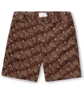 Shades of Grey by Micah Cohen Zebra Heats Print Flat Front Short