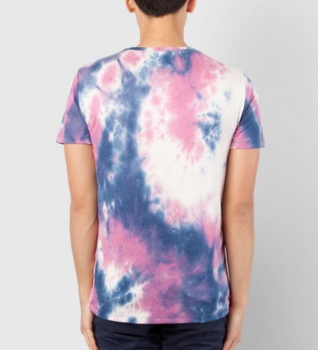 Shades of Grey by Micah Cohen Blue/Purple Tie-dye Low Crewneck T-Shirt