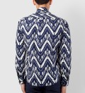Shades of Grey by Micah Cohen Navy Ikat Slim Fit button Down Shirt