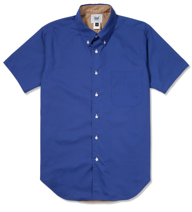 Mark McNairy Royal/Tan SS Reversible BD Shirt
