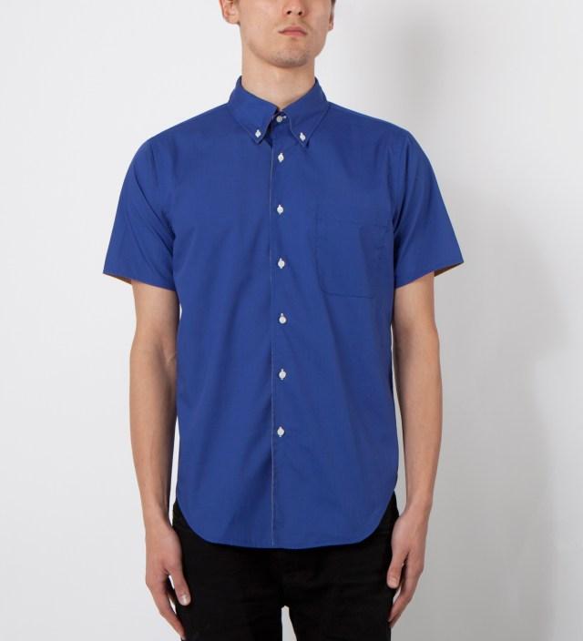 Mark McNairy Royal/Tan SS Reversible BD Shirt