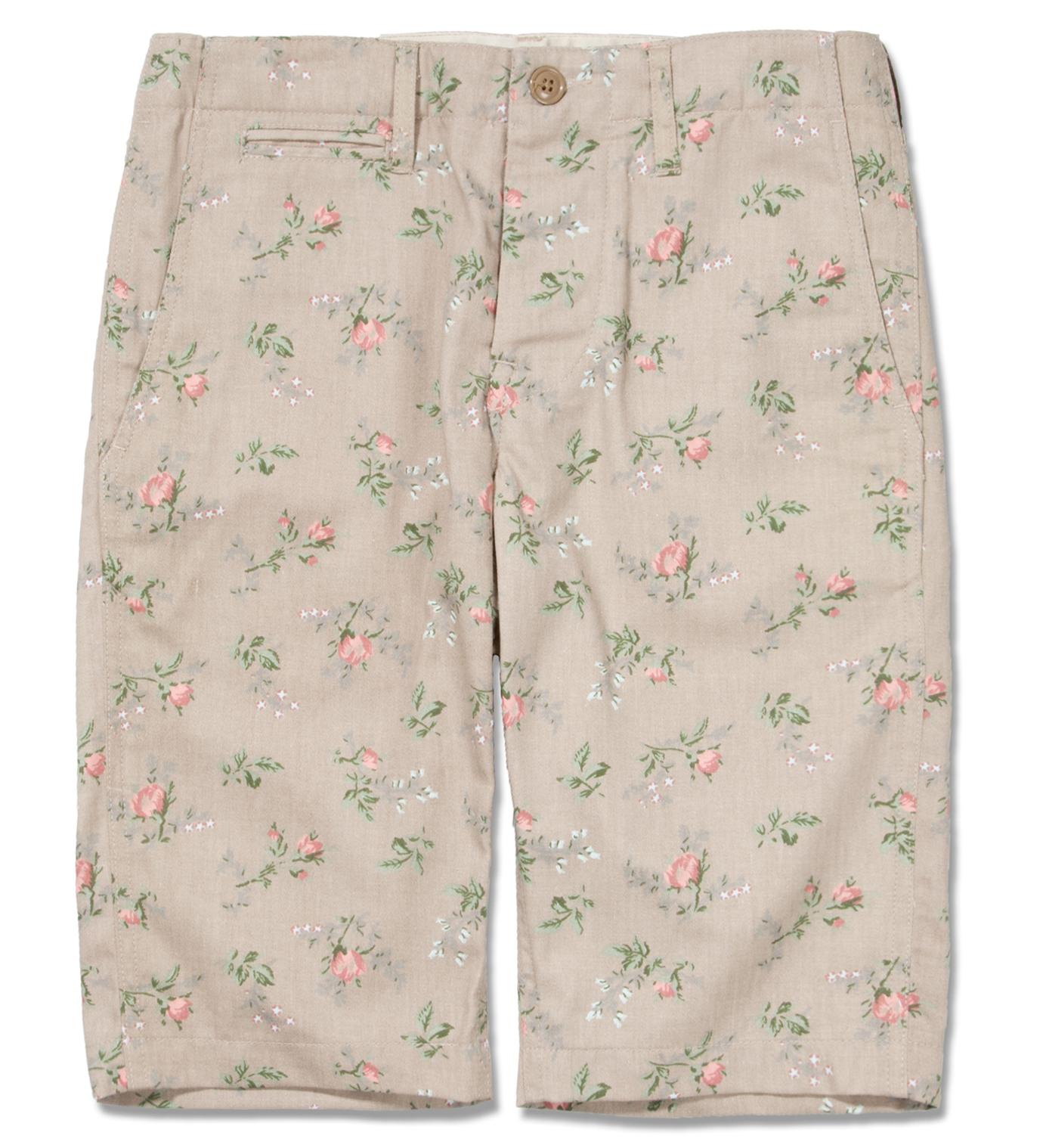Mark McNairy Khaki Floral Chino Short