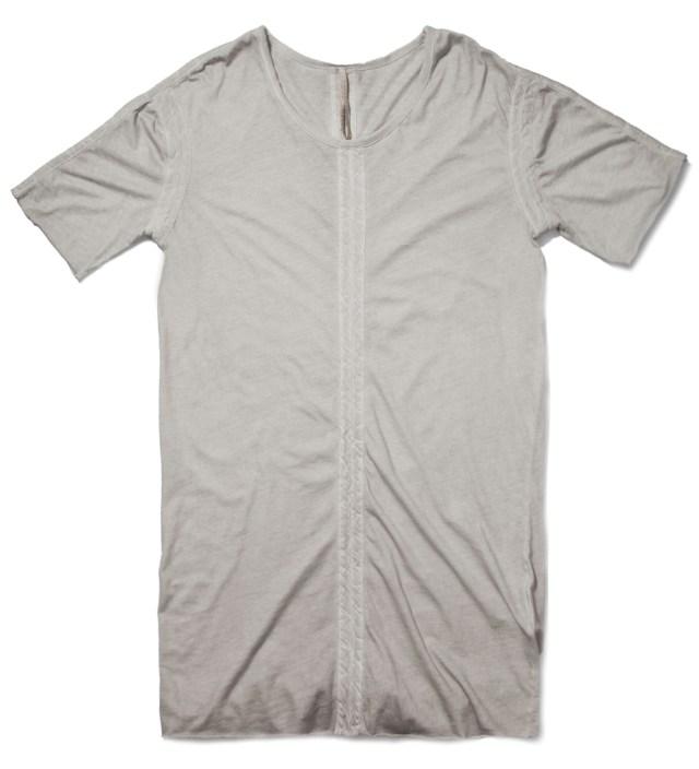 SILENT DAMIR DOMA Grey Torp MNS Panelled T-Shirt