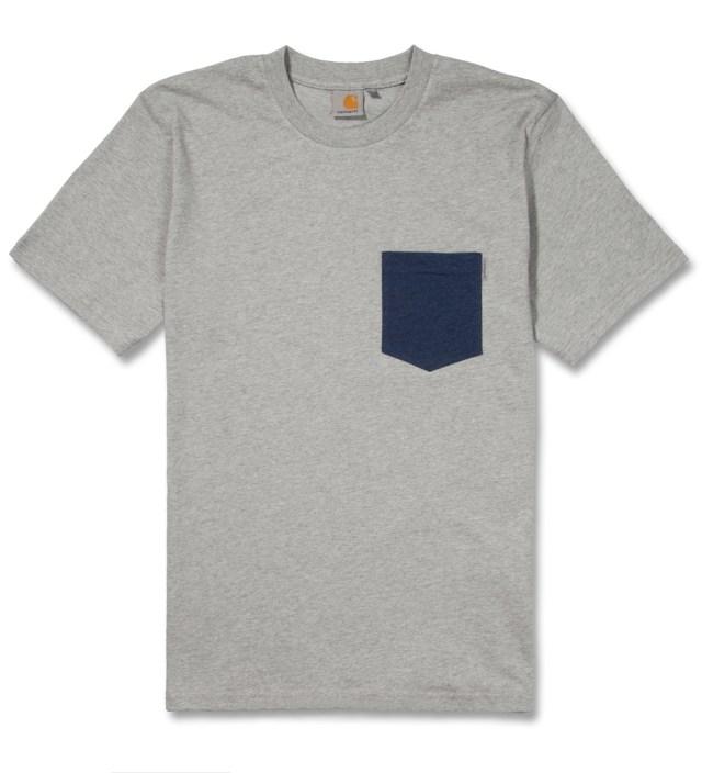 Carhartt Work In Progress Heather Grey/Heather Navy Contrast Pocket T-Shirt
