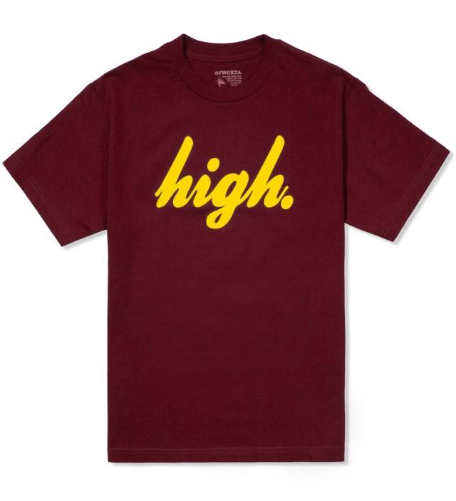 Odd Future Maroon/Yellow Domo High T-Shirt