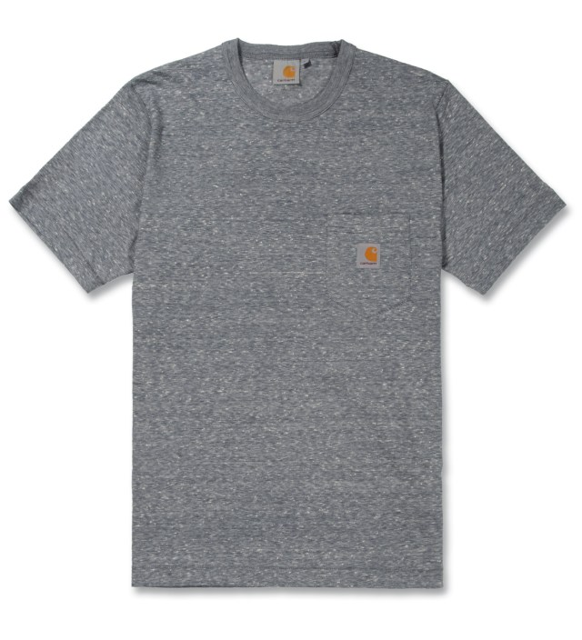 Carhartt WORK IN PROGRESS Asphalt American Heather Master Pocket T-Shirt