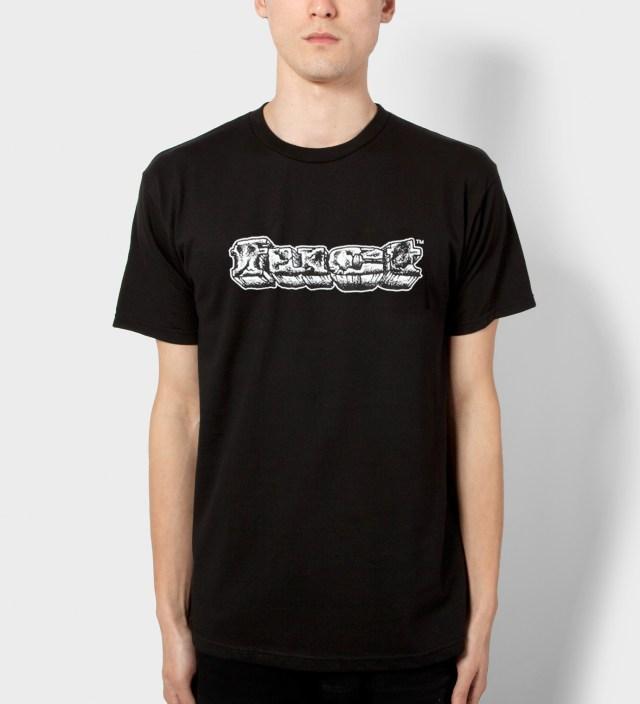 FUCT Black OG Crackle Rock T-Shirt