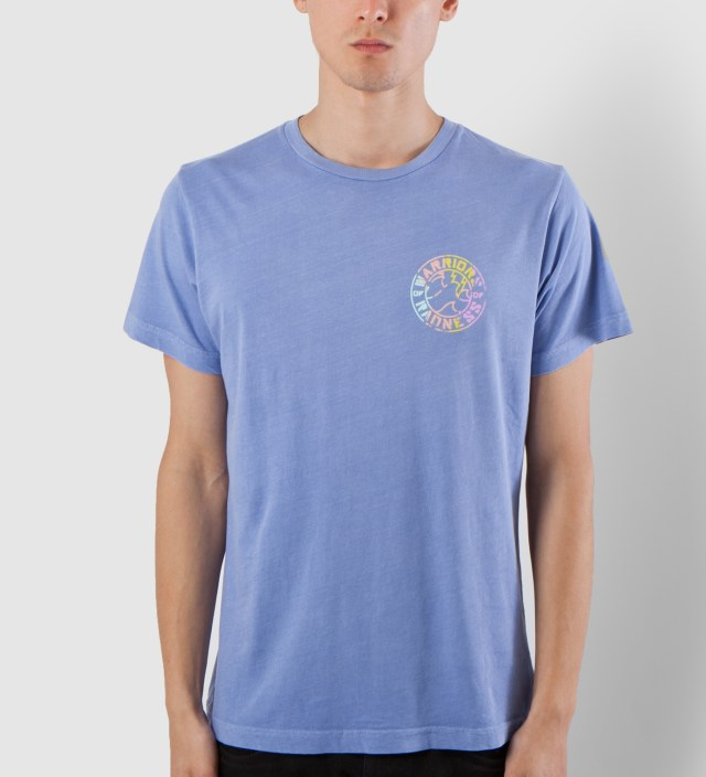 Warriors of Radness Trance Blue Curl Logo T-Shirt