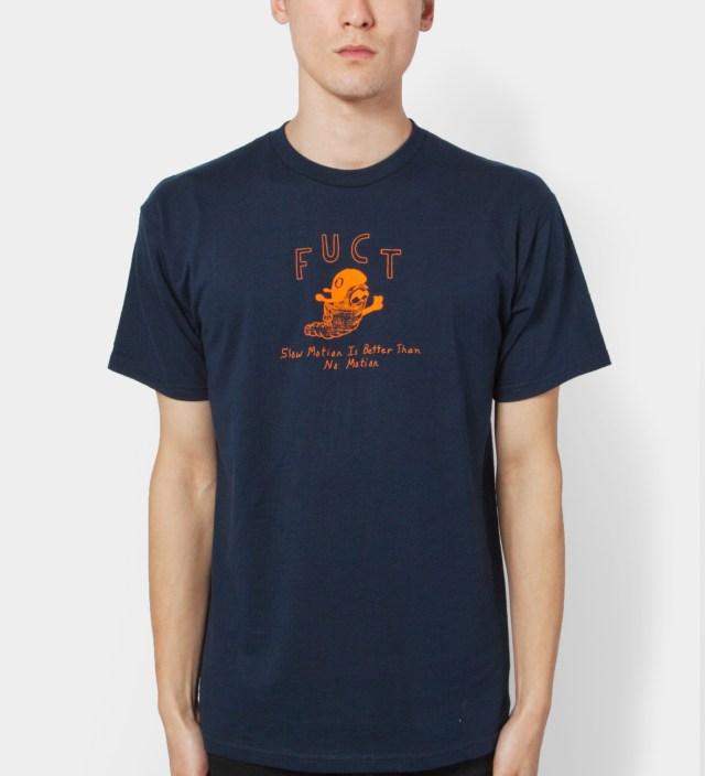 FUCT Navy Slow Motion T-Shirt