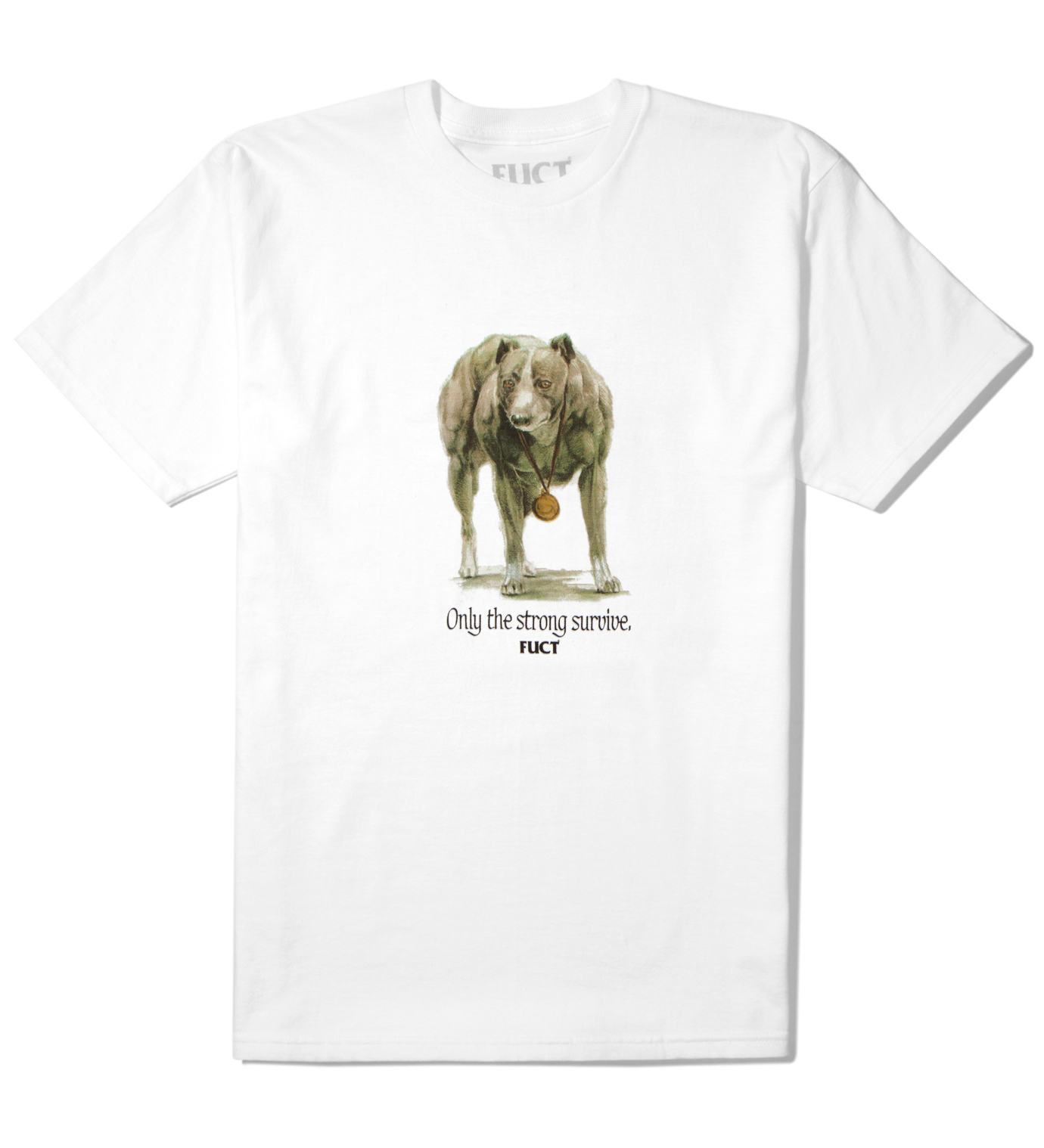 FUCT White Only The Strong Survive T-Shirt