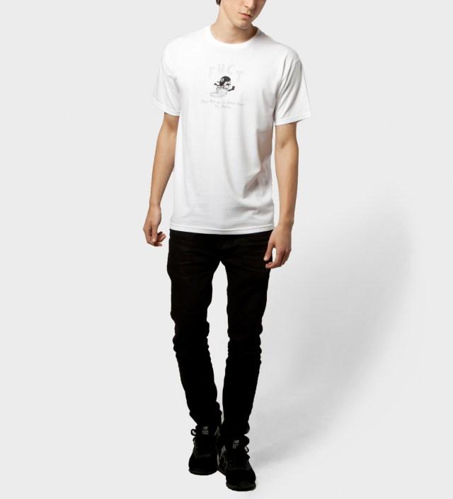 FUCT White Slow Motion T-Shirt