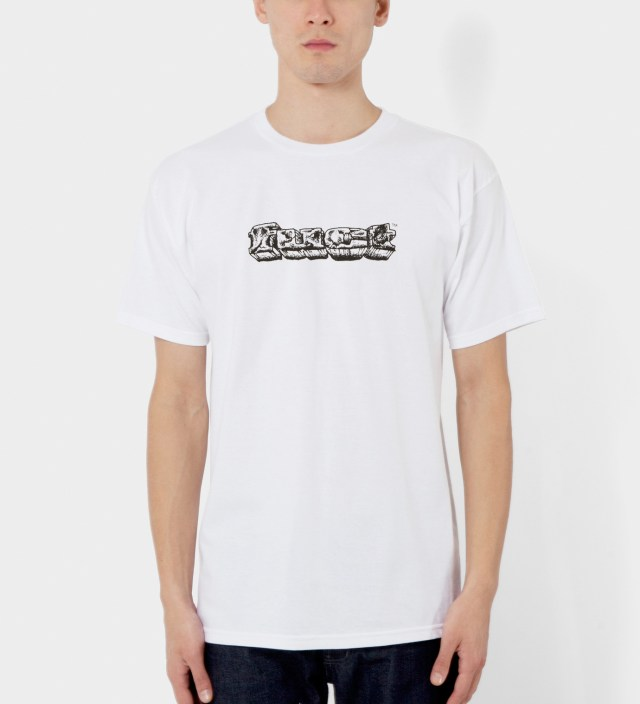 FUCT White OG Crackle Rock T-Shirt