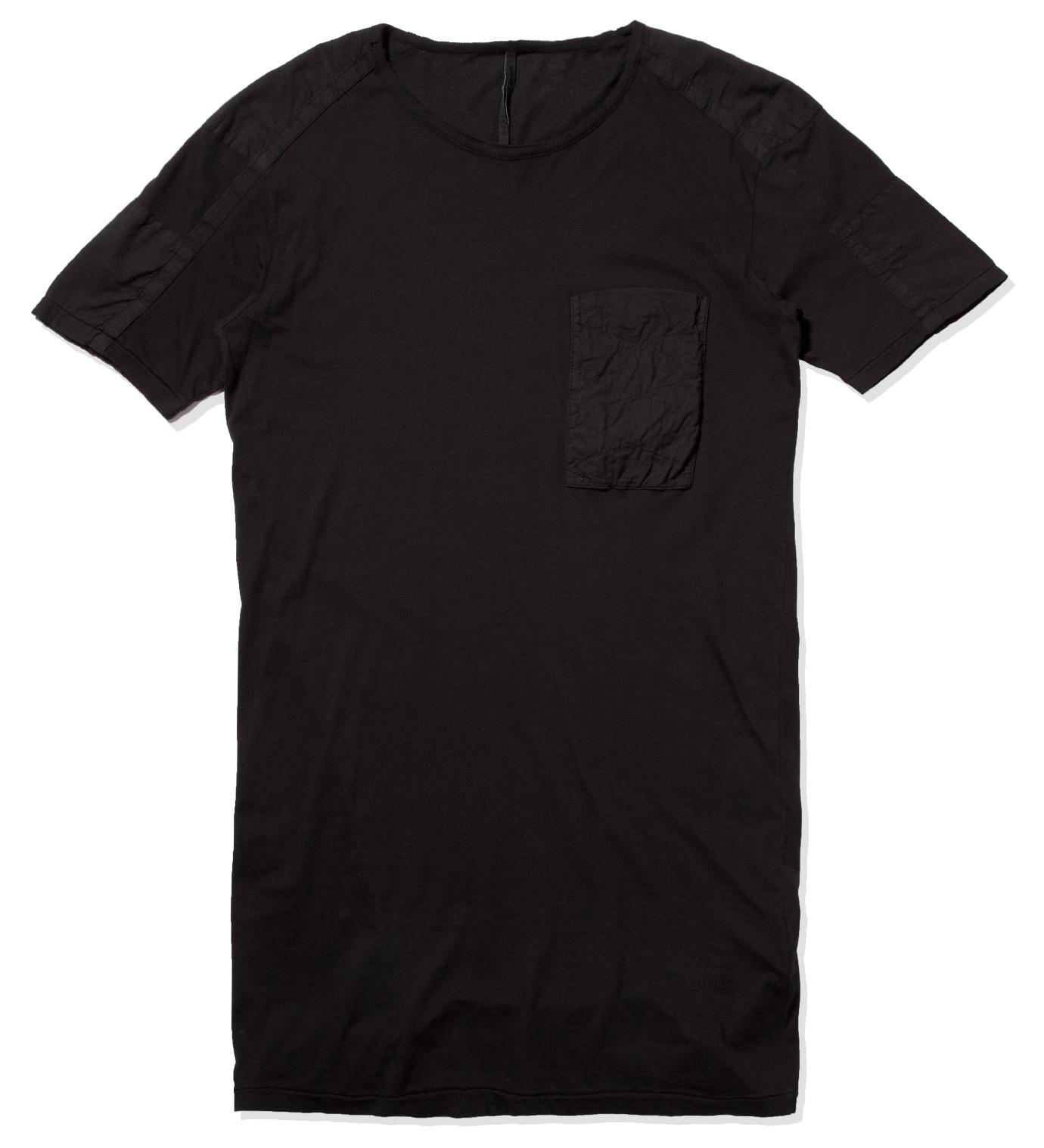 SILENT DAMIR DOMA Black Tetro MNS Patchwork T-Shirt