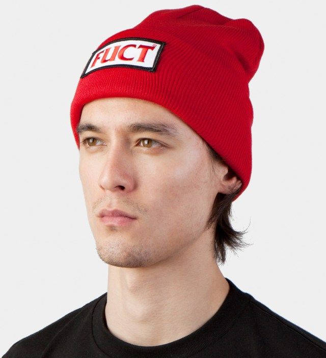 FUCT Red FUCT Wars Patch Beanie