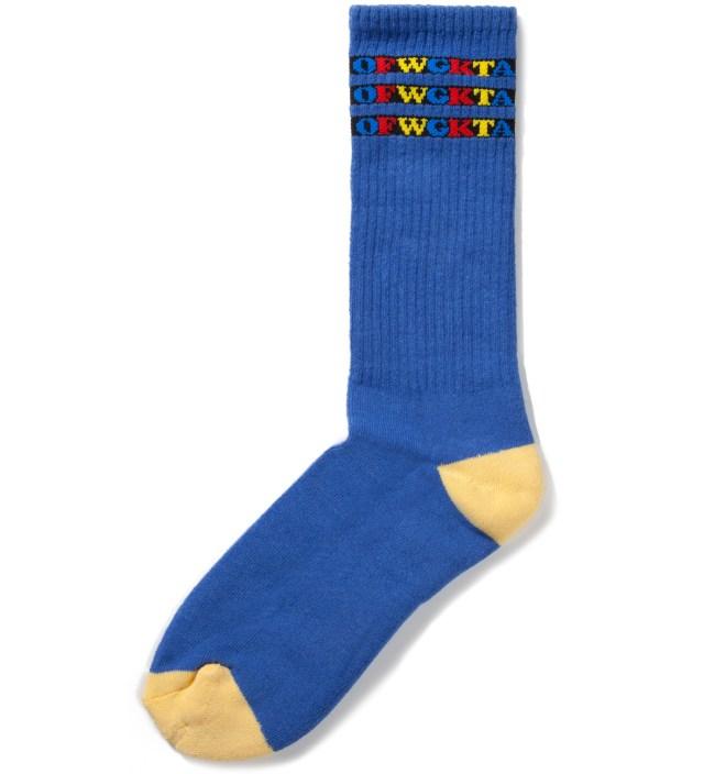 Odd Future Blue OFWGKTA Gradient Socks