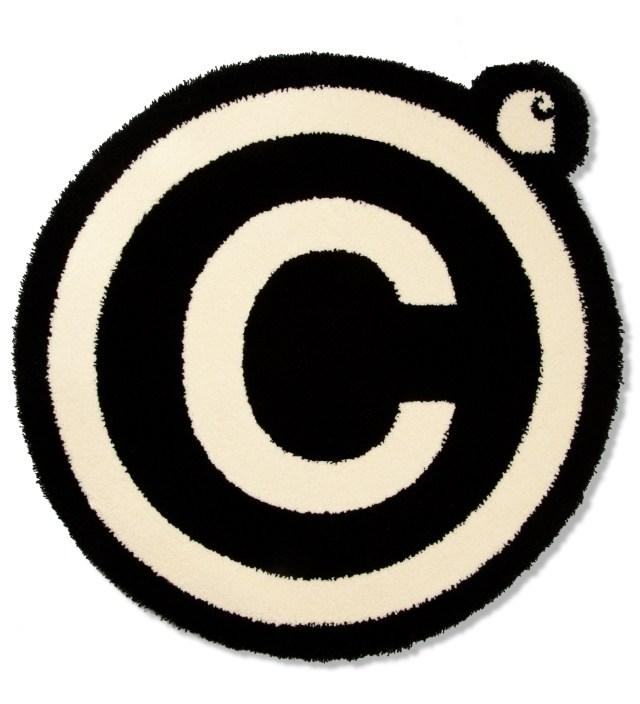 Carhartt WORK IN PROGRESS Black/White Copyright Rug