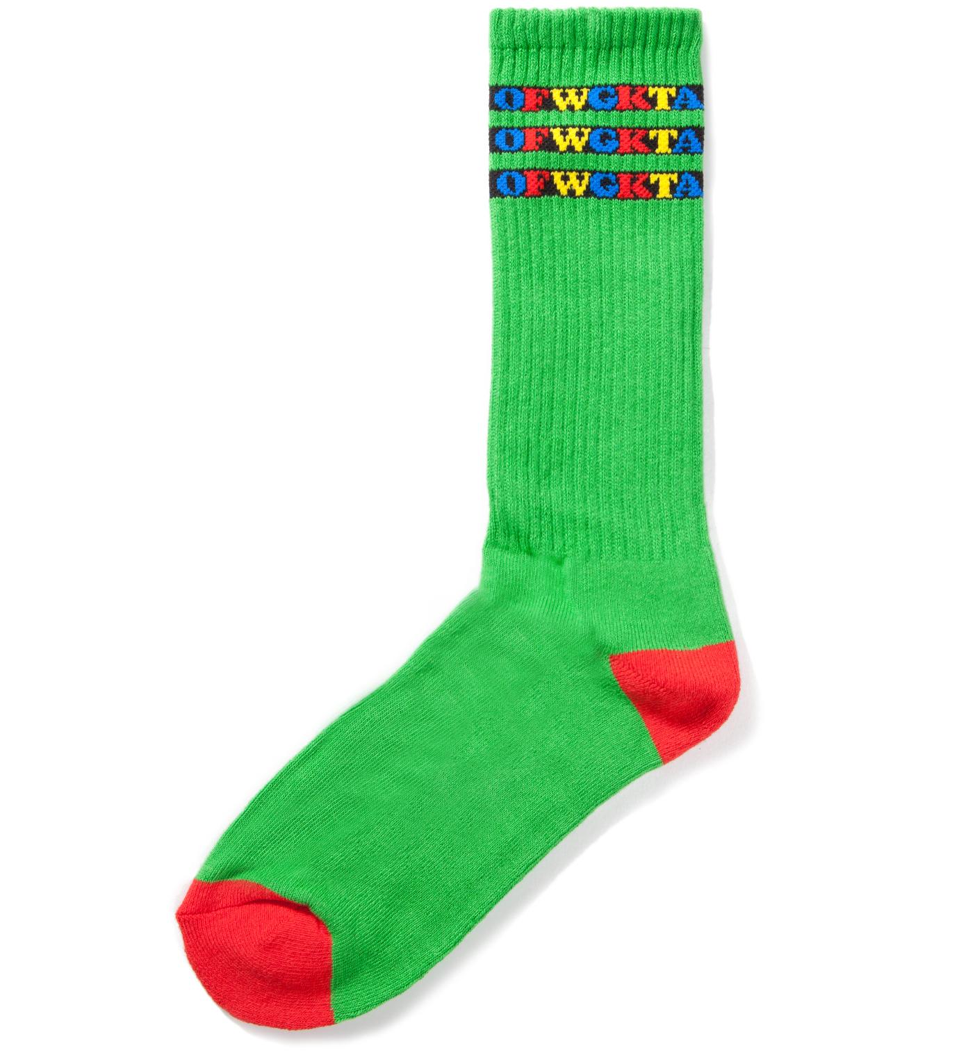 Odd Future Green OFWGKTA Gradient Kelly Socks