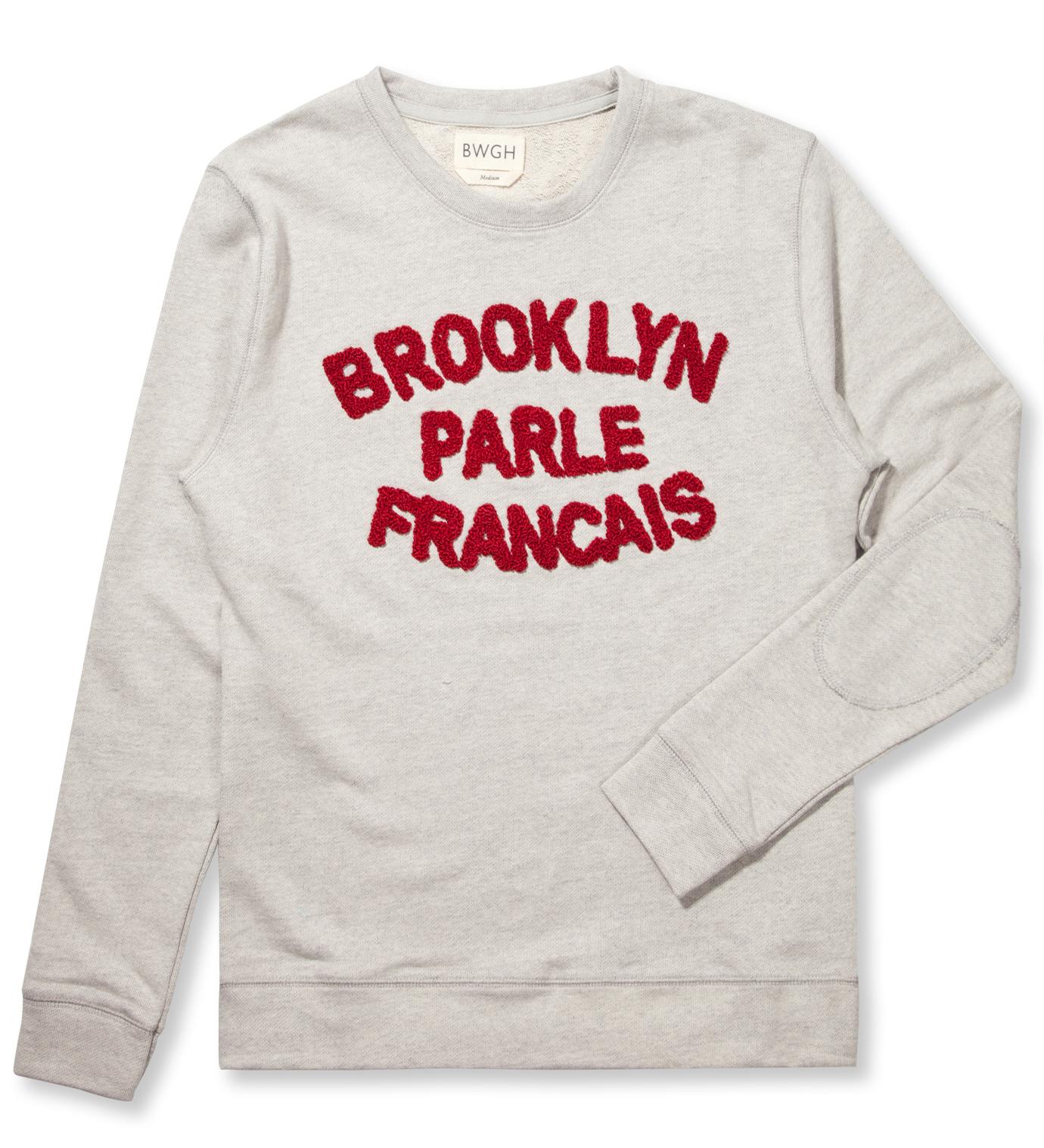 BWGH Grey/Burgundy Brooklyn Parle Francis Sweater