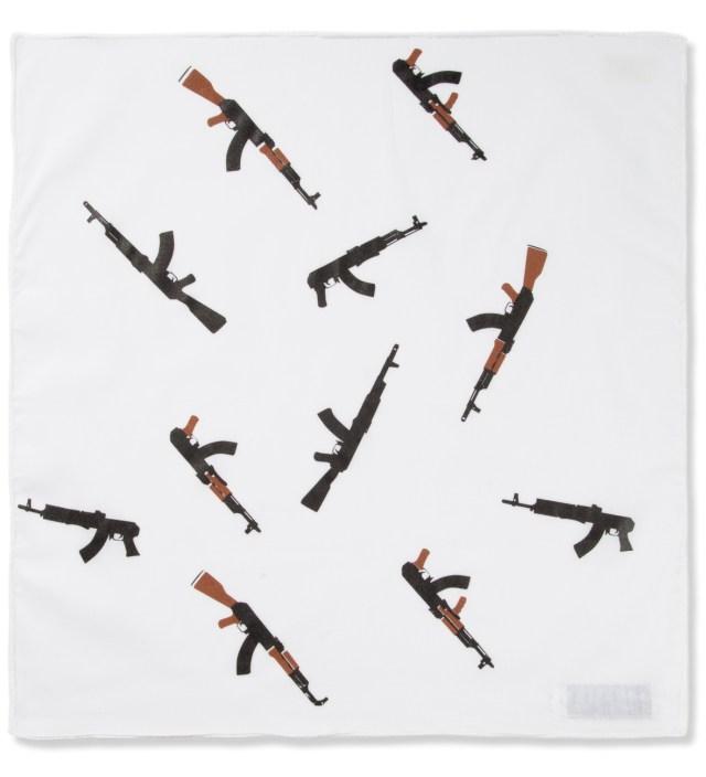 Mark McNairy for Heather Grey Wall White AK-47 Pocket Square Handkerchief