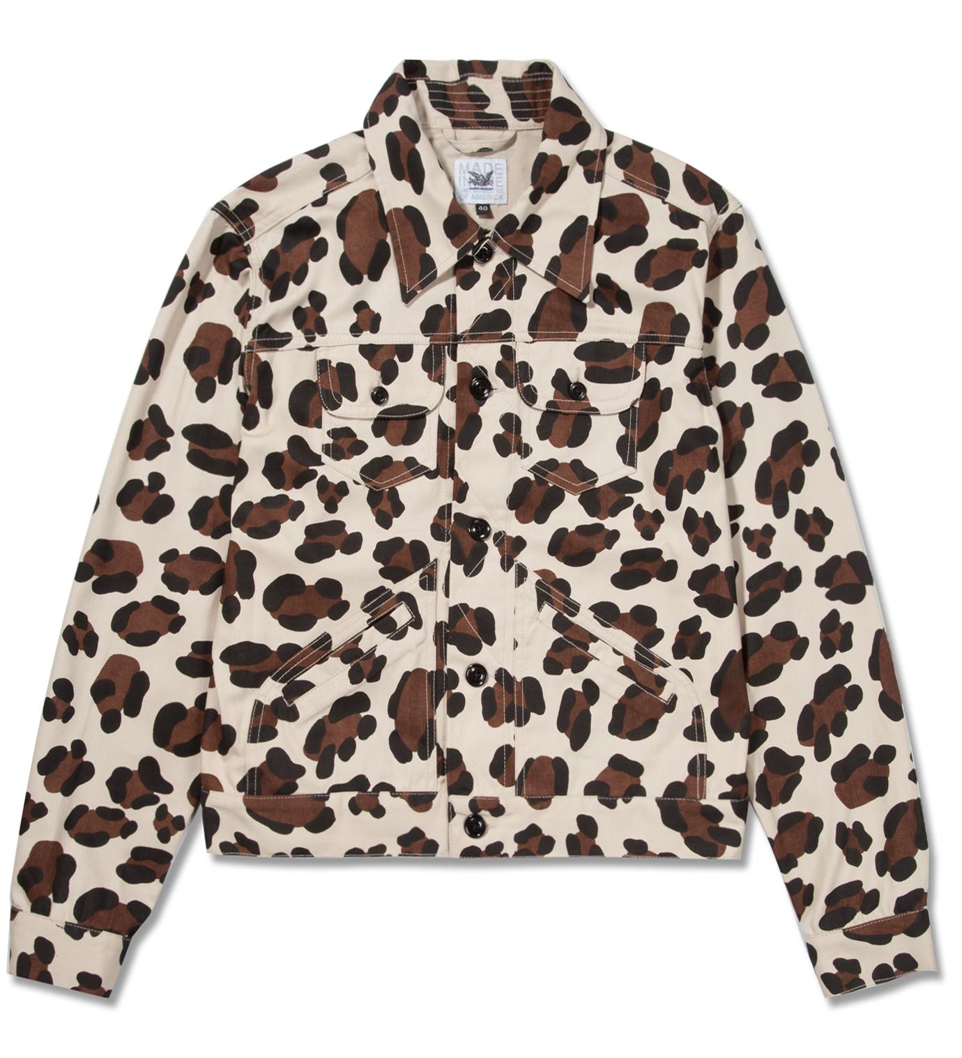 Mark McNairy Leopard Jean Jacket
