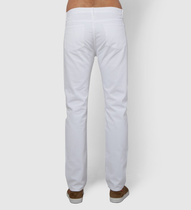 Hentsch Man White Denim Trouser Pant
