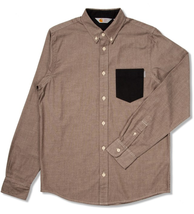 Carhartt WORK IN PROGRESS Tobacco/Craw Black Stone Washed Alfred Shirt