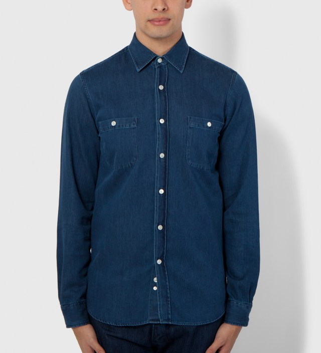 Hentsch Man Dark Denim Lumber Shirt