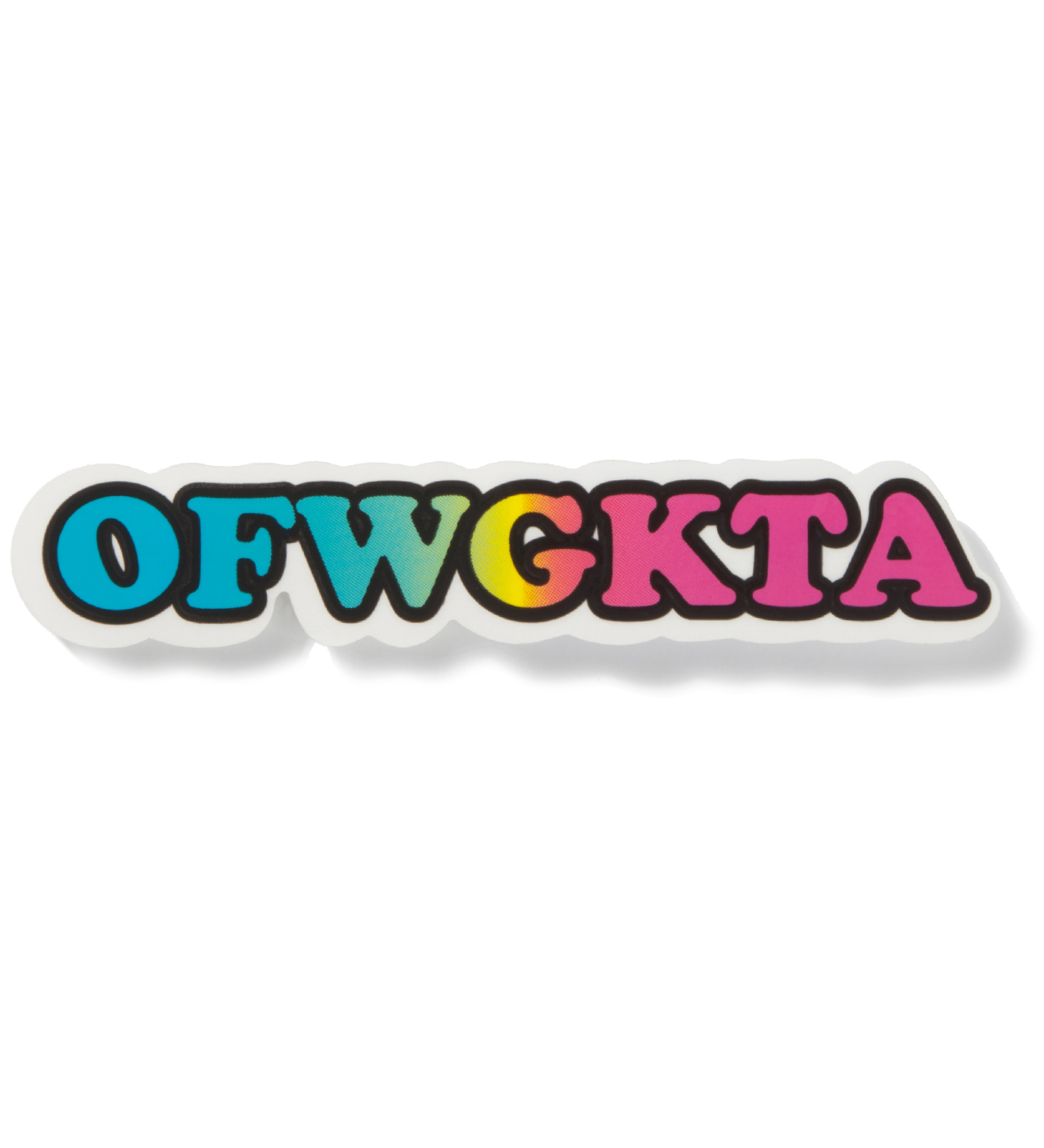 Odd Future Rainbow OFWGKTA Clear Vinyl Sticker