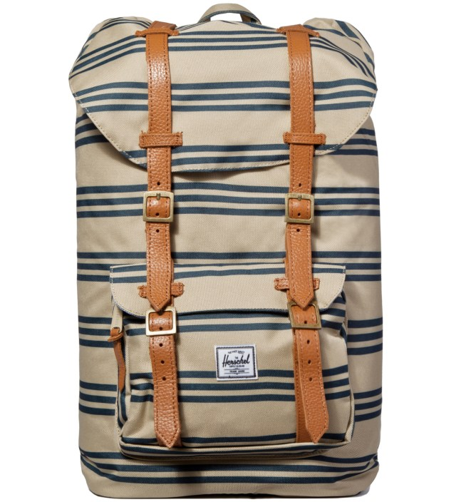 Herschel Supply Co. Navy/Khaki Stripe Little America Backpack