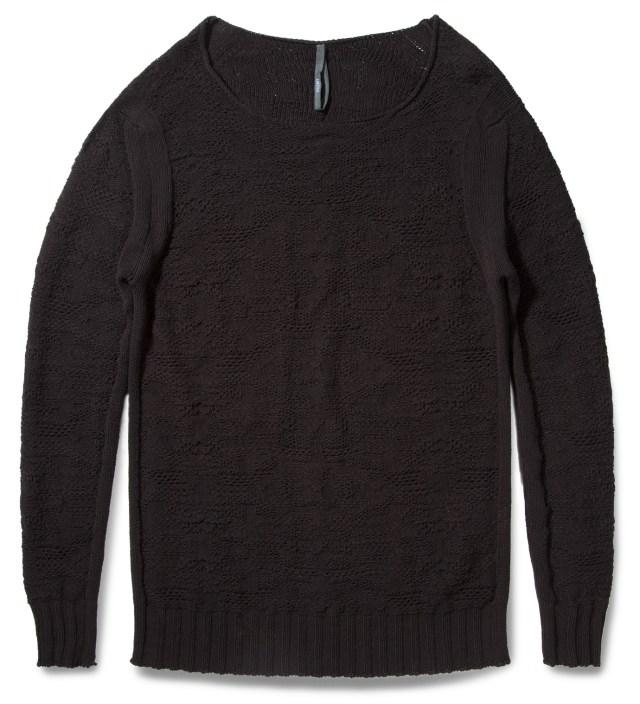 SILENT DAMIR DOMA Black Kant Long Sweater