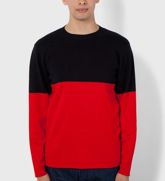 Hentsch Man Navy/Red Marni Block 1 Sweater