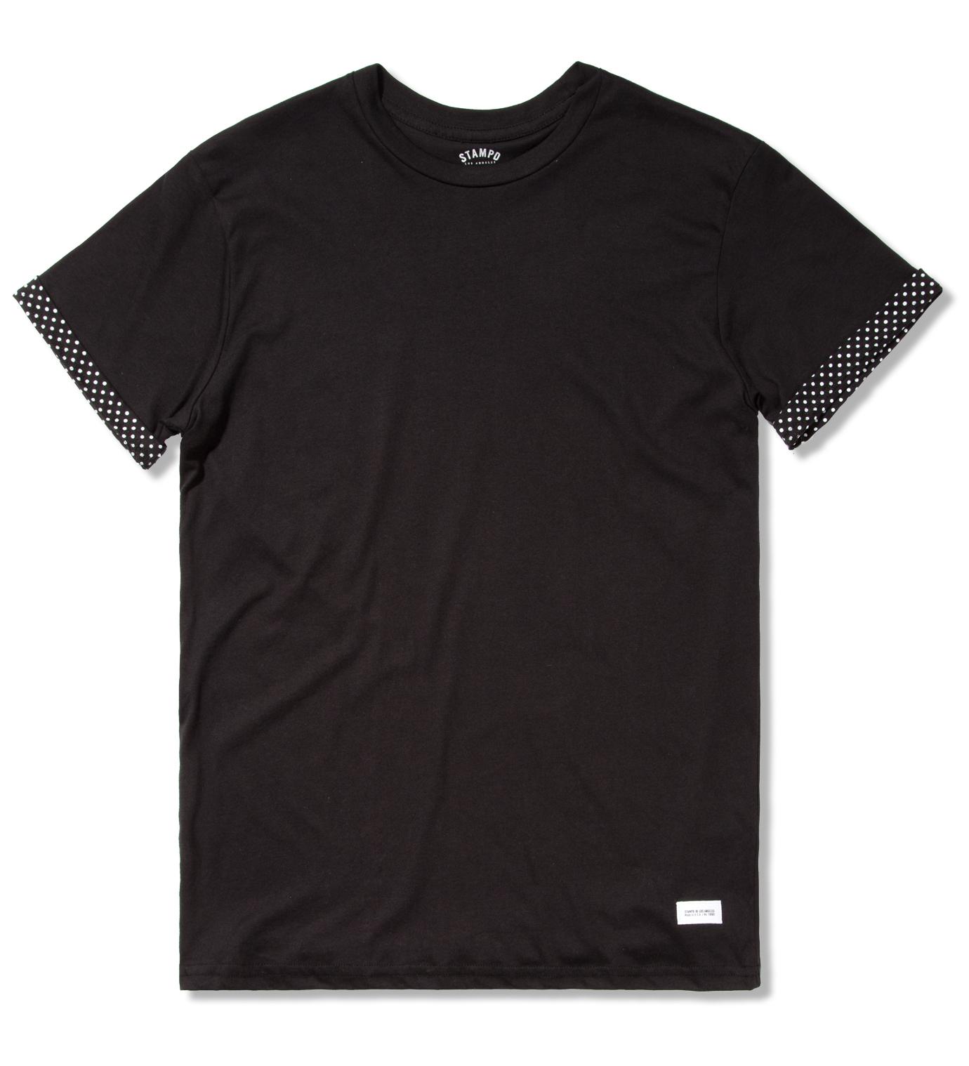 STAMPD Navy Polka Shirt