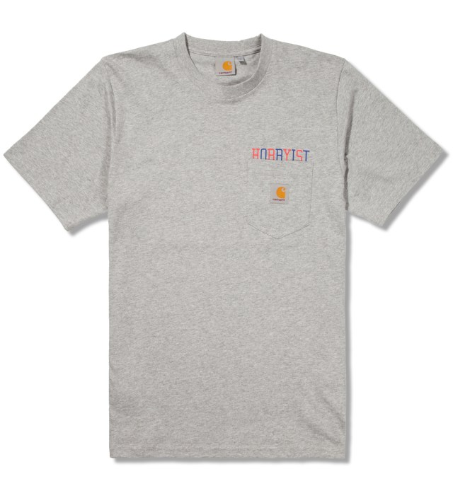 Carhartt Work In Progress Heather Grey/Multicolor Hobbyist Pocket T-Shirt