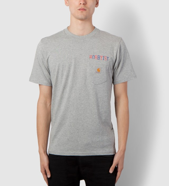 Carhartt WORK IN PROGRESS Heather Grey/Multicolor Hobbyist Pocket T-Shirt