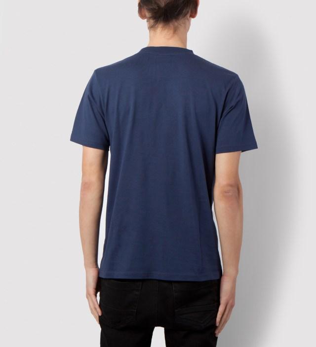 Carhartt Work In Progress Blue/Cranberry Contrast Pocket T-Shirt