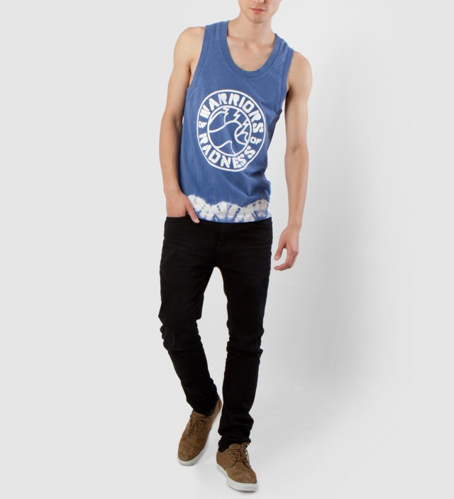 Warriors of Radness Blue Waters Whitewash Tank