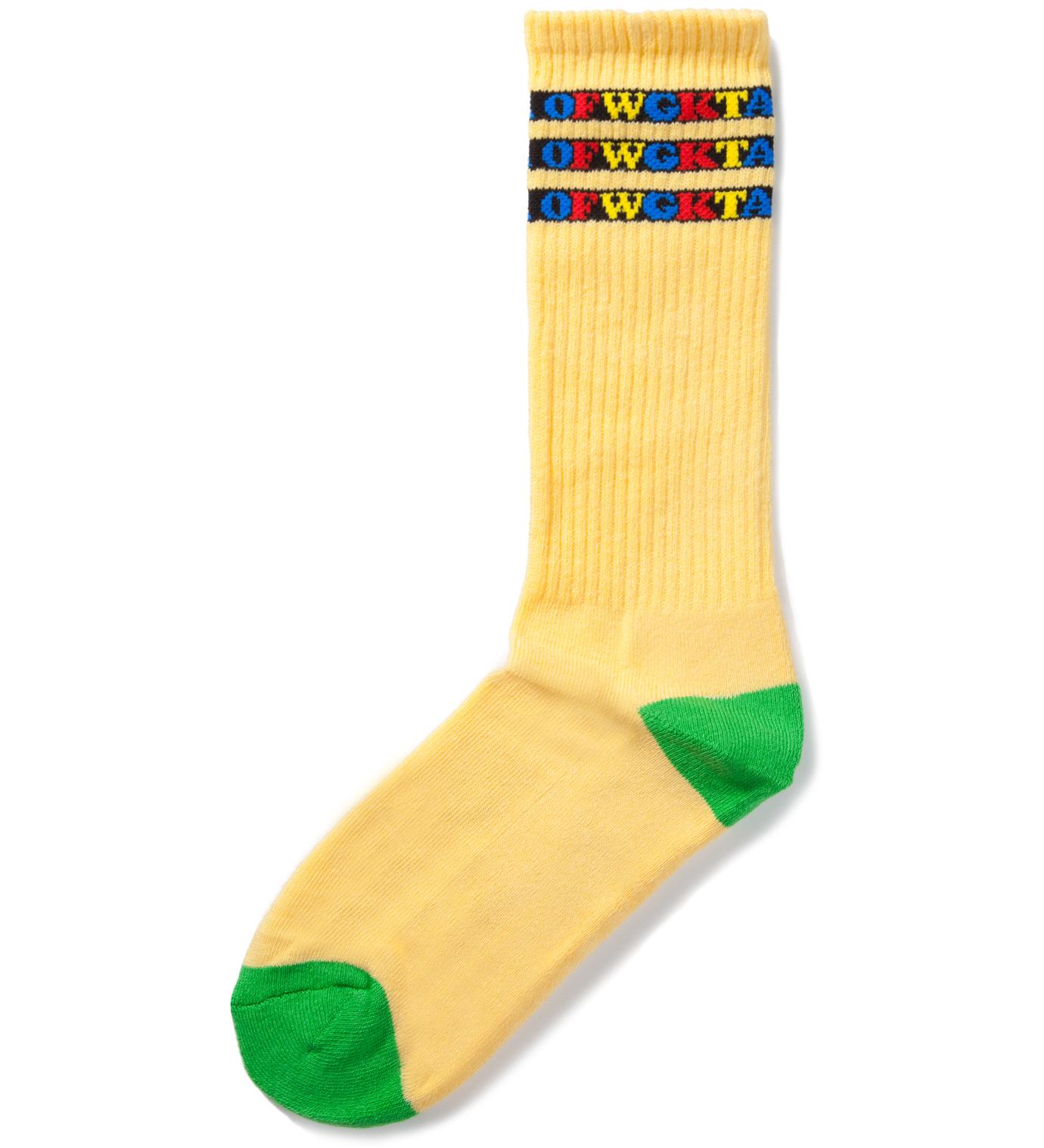 Odd Future Yellow OFWGKTA Gradient Socks