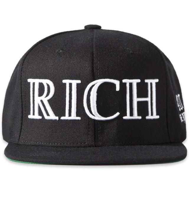 40oz NYC Black RICH Snapback Cap