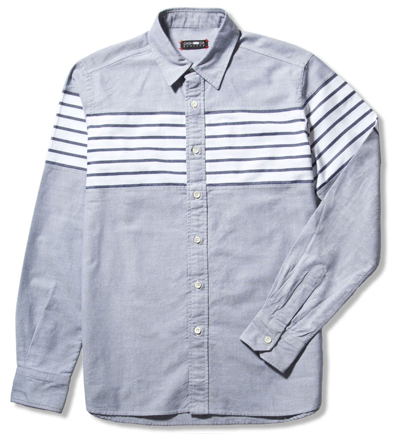 CASH CA Navy Chest Border Shirt
