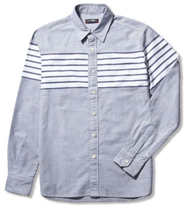CASH CA Navy Chest Border Shirt
