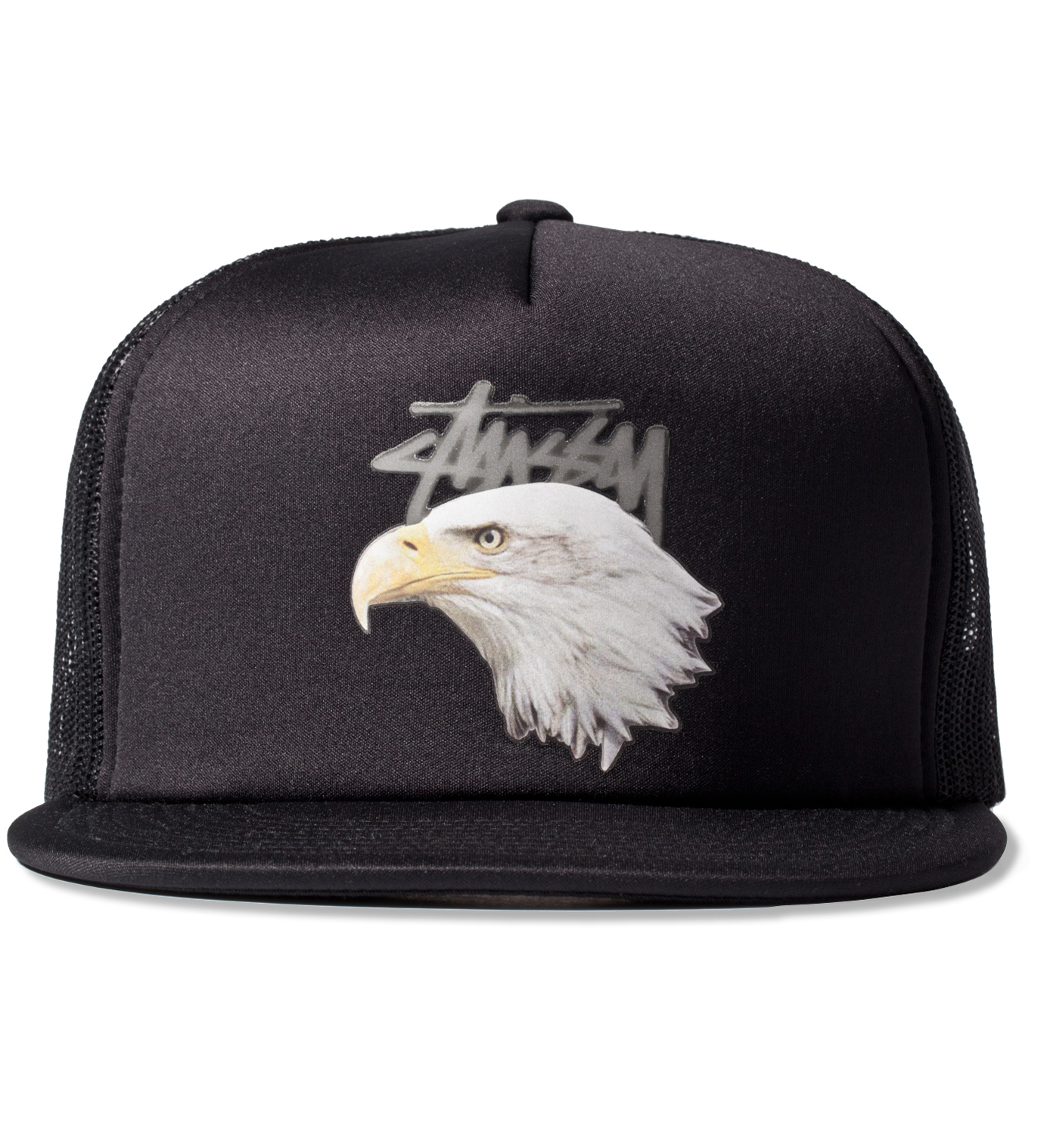 Stussy Black Animals Trucker Ballcap