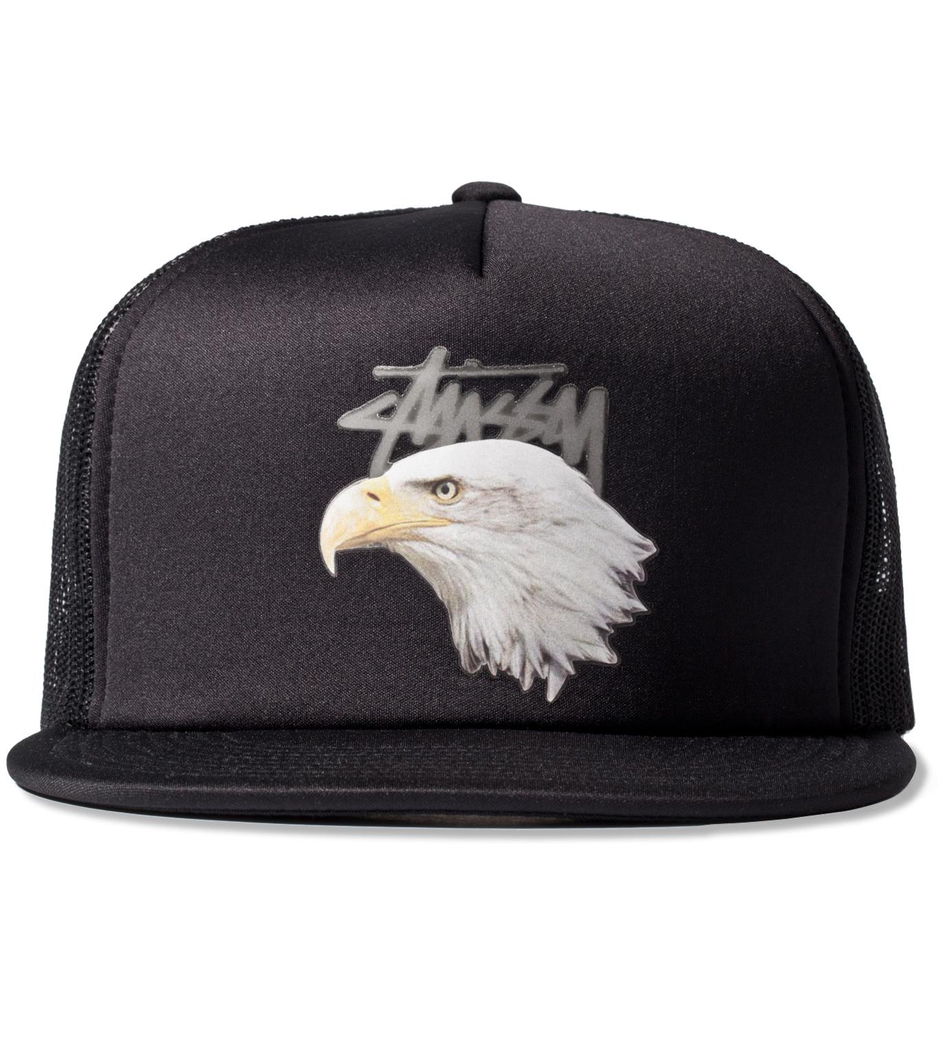 Stussy Black Animals Trucker Ballcap