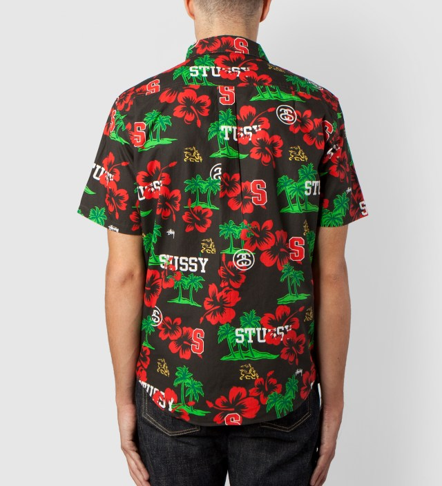 Stussy Black Hawaiian Sport Shirt