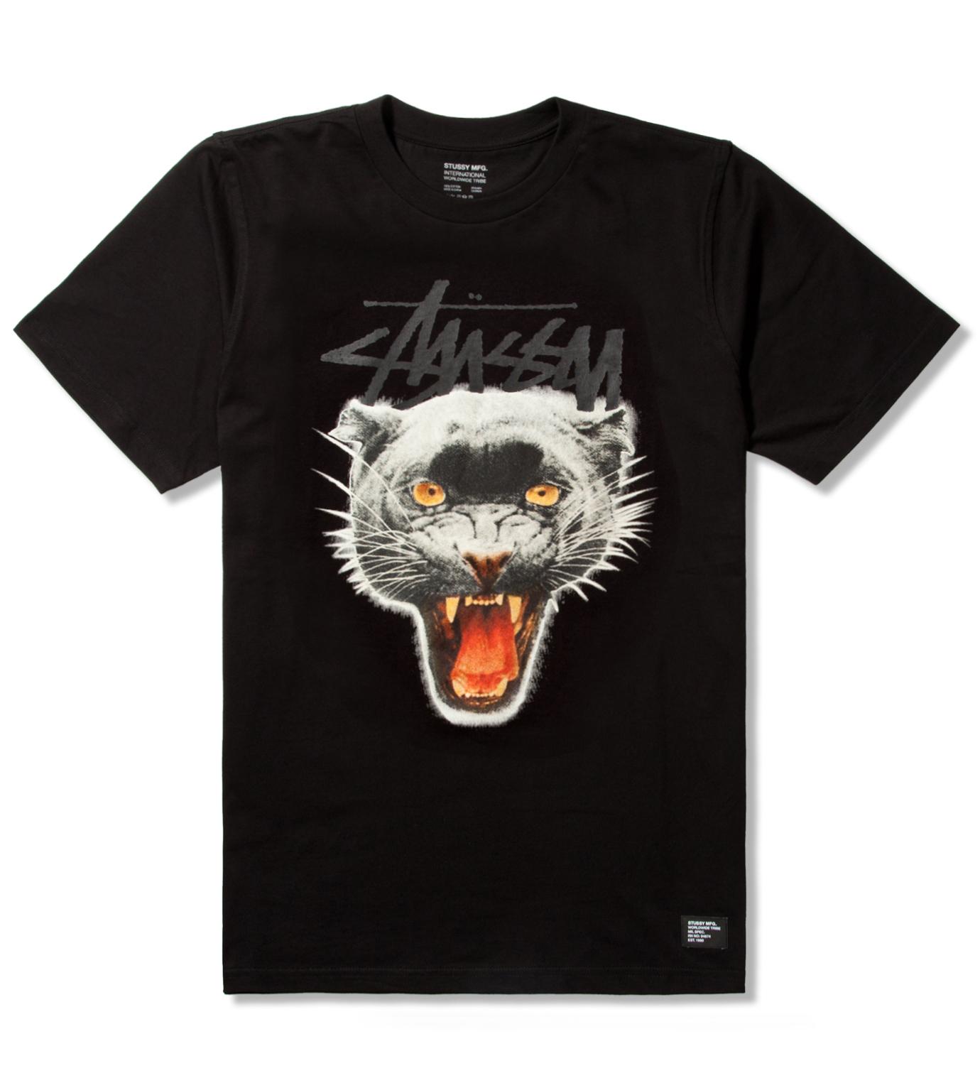 Stussy Black Panther Crew T-Shirt