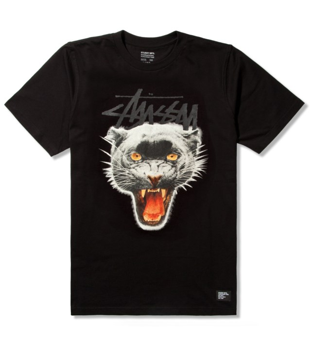 Stussy Black Panther Crew T-Shirt